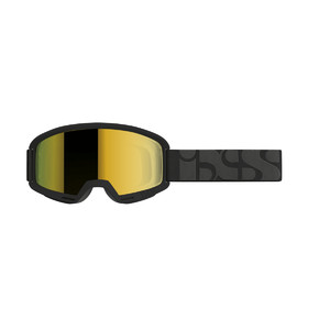 iXS goggle Hack black / mirror gold one-size